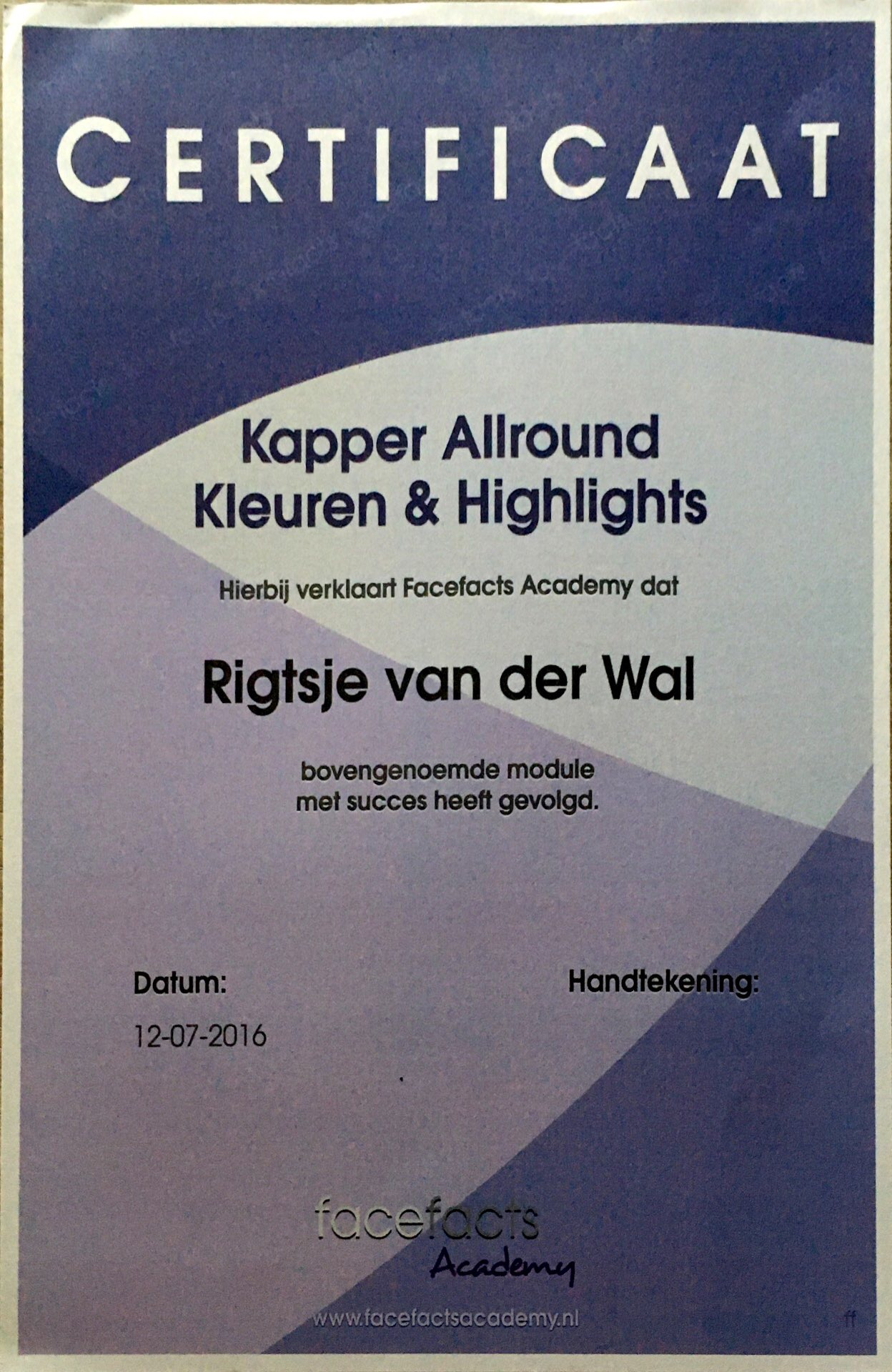 Kapper Allround Kleuren & highlights