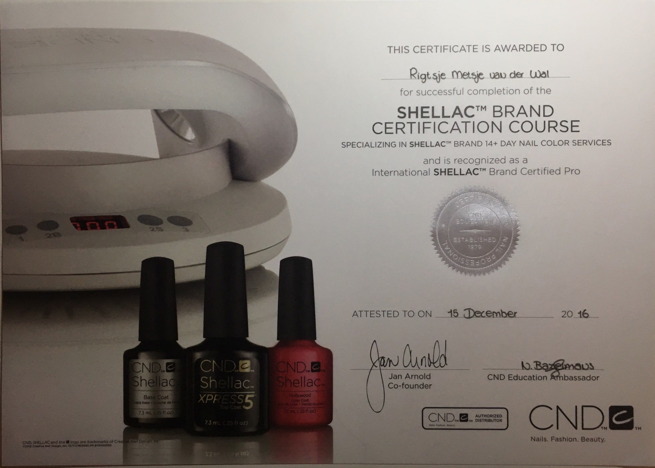 Shellac Brand Certification